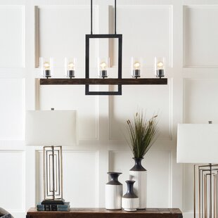 Odin Transitional Linear 5-Light Candle Style Chandelier