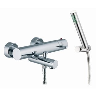 Review Spillo Wall Mount Thermostatic Tub and Shower Faucet by Fima by Nameeks