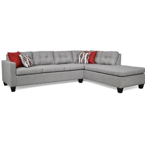 Bernette Sectional  sc 1 st  Joss u0026 Main : grey sofa with chaise - Sectionals, Sofas & Couches