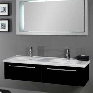Best Choices Play Ceramic 57 Wall Mount Bathroom Sink with Overflow ByAlthea by Nameeks