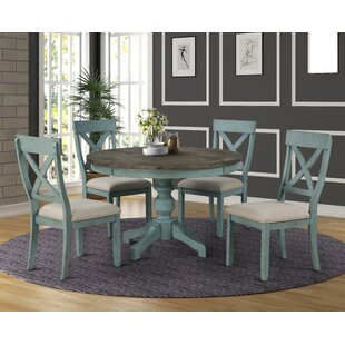 Cierra Round Table 5-Piece Dining Set Ophelia & Co.