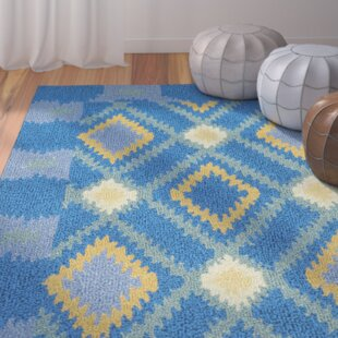 Puri Hand-Hooked Blue Indoor/Outdoor Area Rug