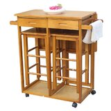 Jordao Kitchen Island Set by Winston Porter