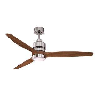 Purchase Raven Ceiling Fan Kit in Chrome with 60'' Blade in Walnut By Brayden Studio
