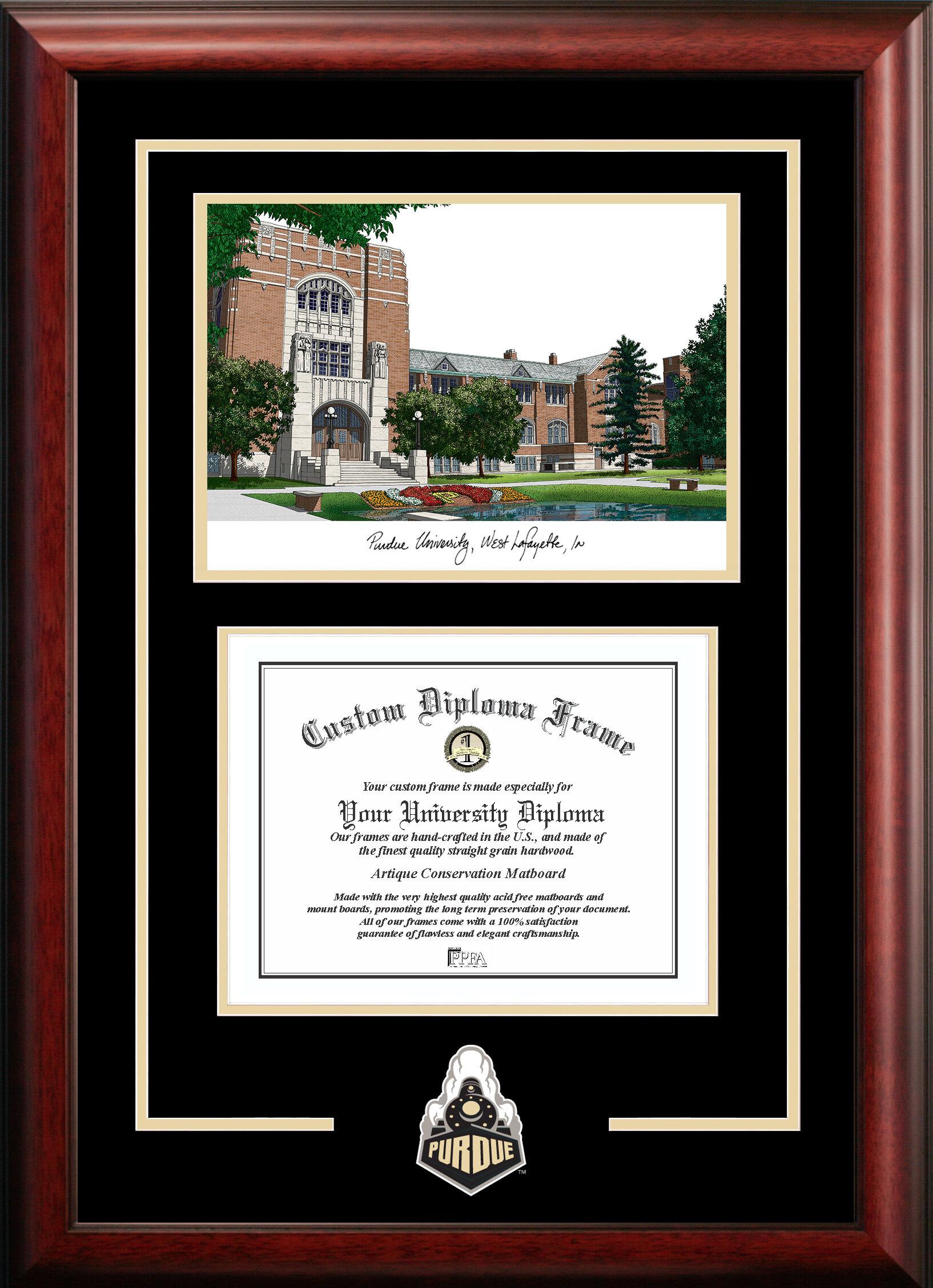 Campus Images NCAA Purdue University Spirit Graduate Diploma Picture ...