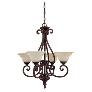 Compare prices Knapp 4-Light Shaded Chandelier By Darby Home Co