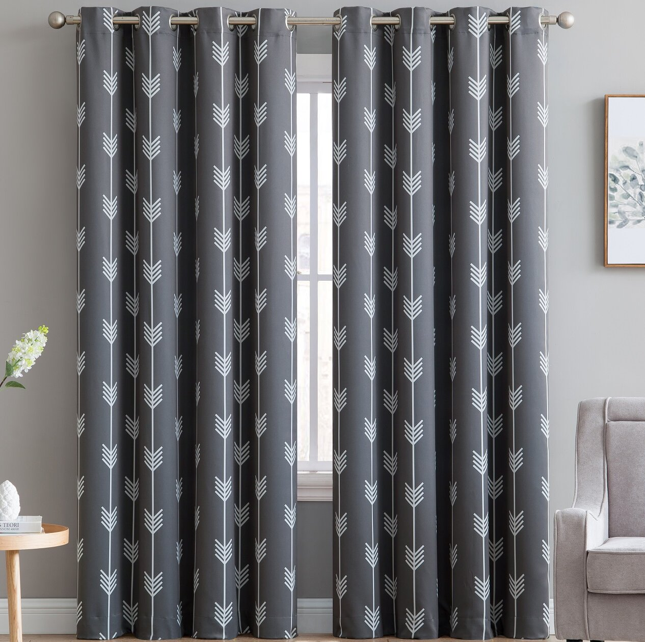 Brendle Geometric Blackout Thermal Grommet Curtain Panels Reviews Allmodern