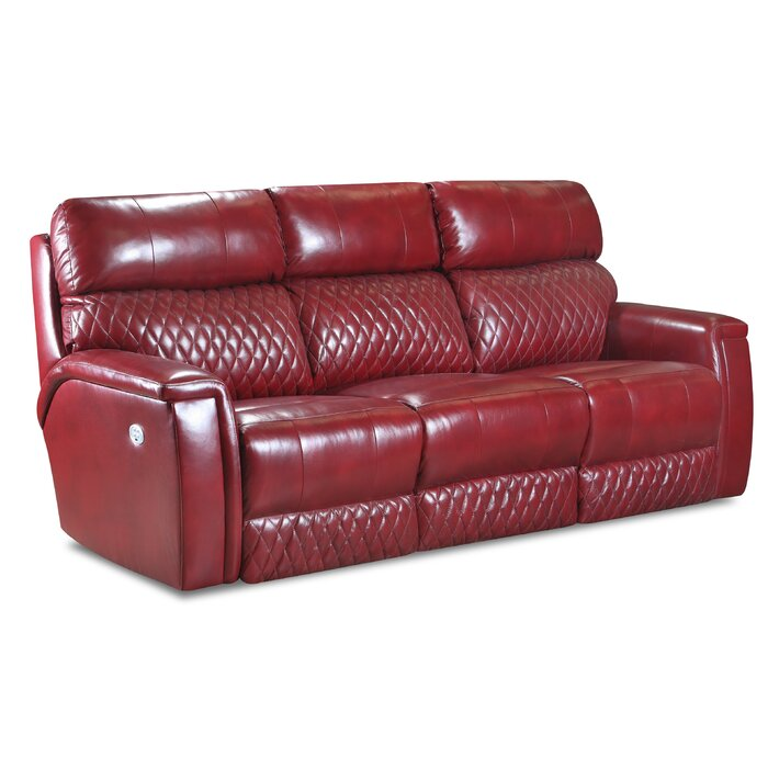 High Rise Power Headrests Leather Reclining Sofa