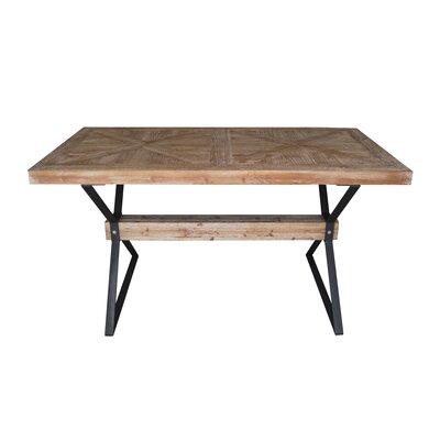 Stainless cross leg dining table joss main pantoja dining table watchthetrailerfo