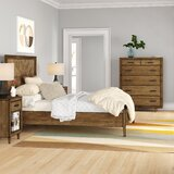 Ian Platform Solid Wood 4 Piece Bedroom Set by Foundstone