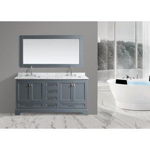 Saugatuck 72 Double Bathroom Vanity Set with Mirror by Orren Ellis