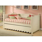 Scallop Twin Daybed with Pop-Up Trundle by Alligator