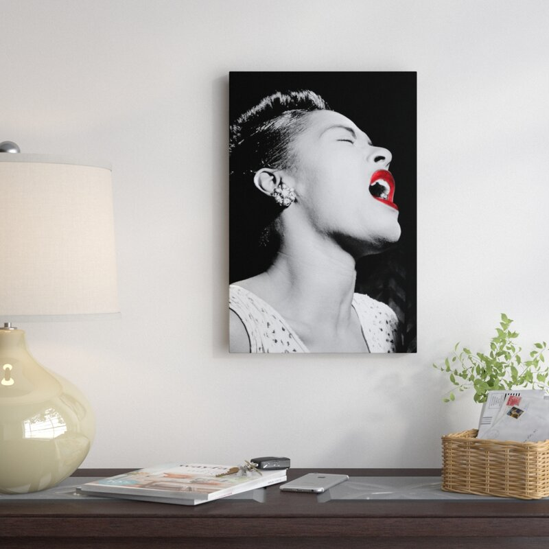 East Urban Home Billie Holiday Photographic Print On Wrapped Canvas Reviews Wayfair