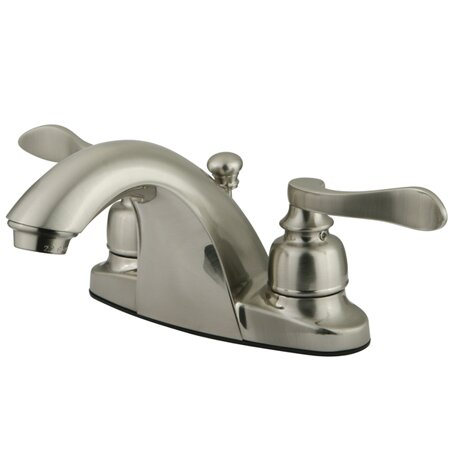 Kingston brass nuwave french double handle centerset bathroom sink faucet with abs pop up drain for French style bathroom faucets
