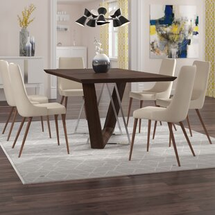 Bruck Contemporary 7 Piece Dining Set Brayden Studio