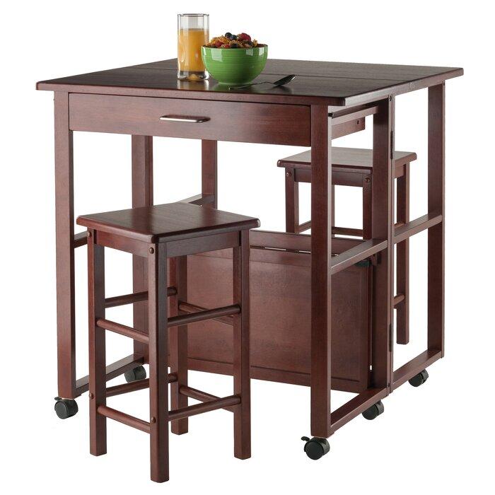 Crownover 3 Piece Bar Table Set