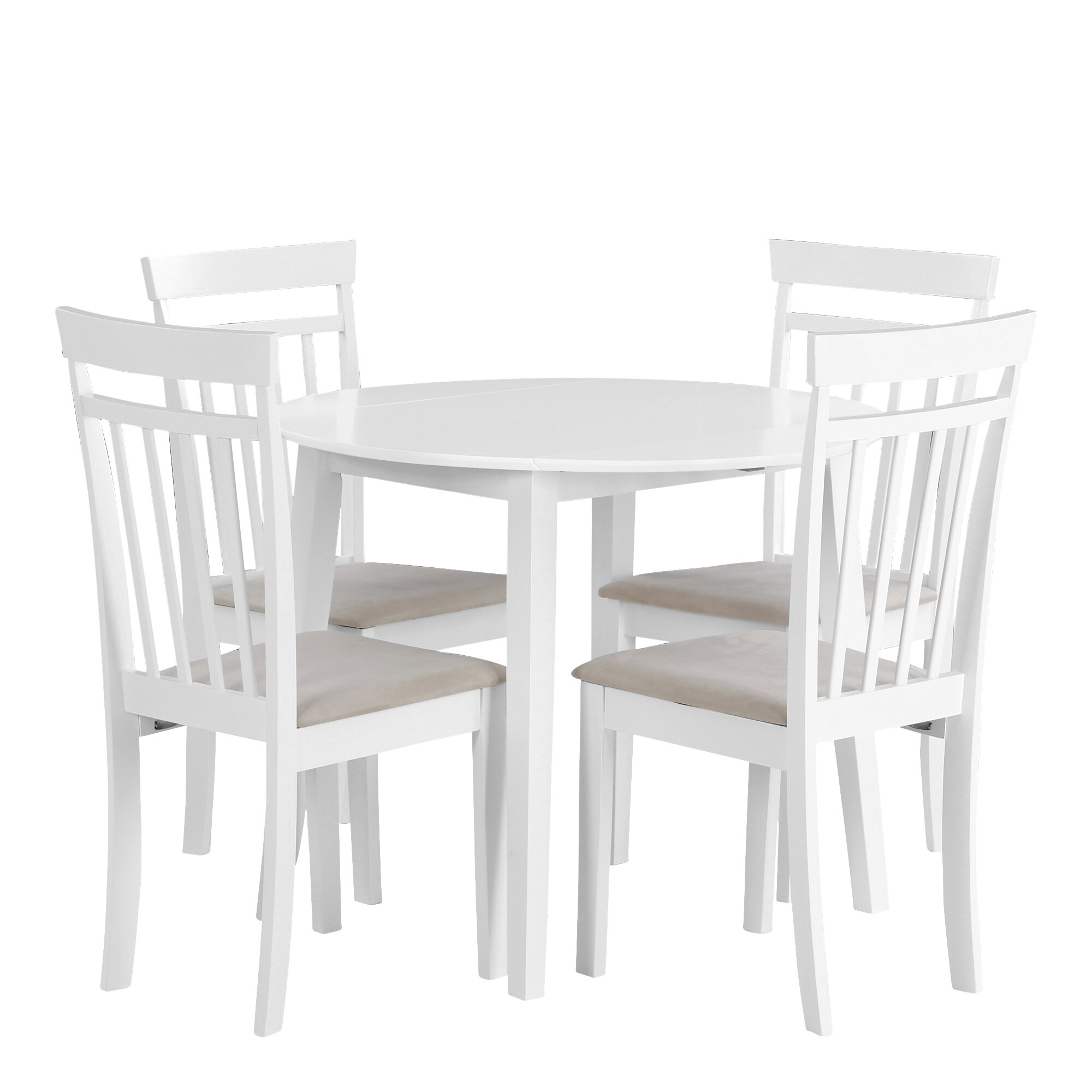 Venta > white round table with 9 chairs > en stock
