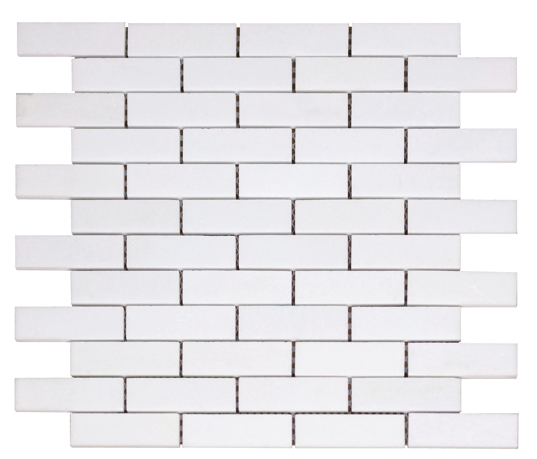 Thassos White Greek Marble 1 X 1 Mosaic Tile Honed