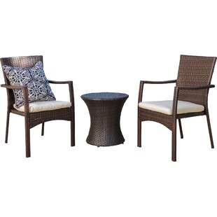 Ault 3 Piece Conversation Set With Cushions by Wrought Studio Great Reviews