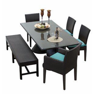 Stratford 6 Piece Dining Set with Cushions