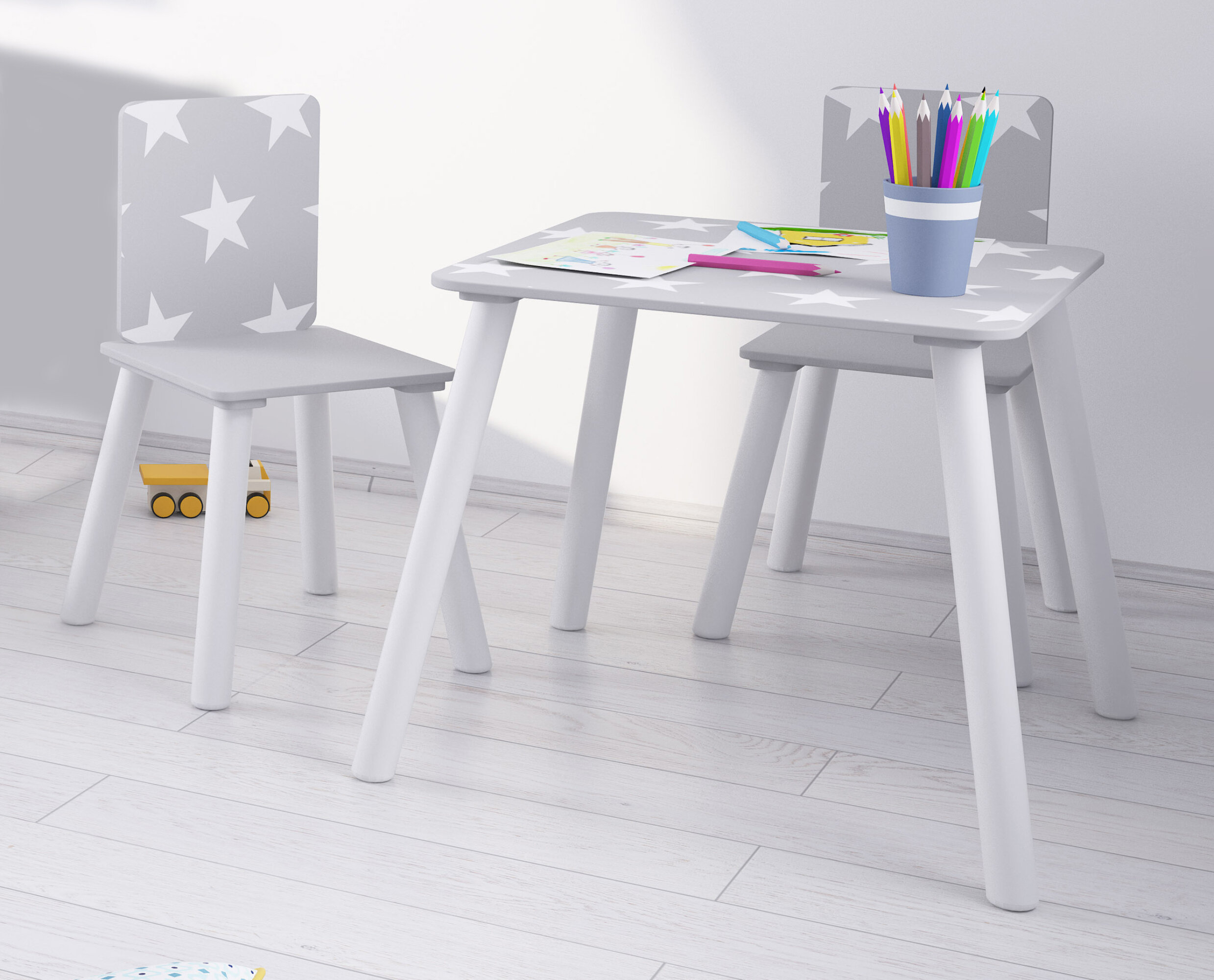 d4913d1f1e4 Kidsaw Star Children s 3 Piece Writing Table and Chair Set   Reviews ...