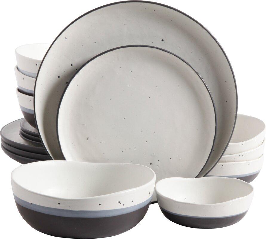 Clara 16 Piece Double Bowl Dinnerware Set  sc 1 st  AllModern & Clara 16 Piece Double Bowl Dinnerware Set \u0026 Reviews | AllModern