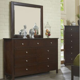 Martin 9 Drawer Double Dresser with Mirror by Flair