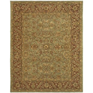 Jaipur Hand-Tufted Wool Green/Rust Area Rug by Safavieh