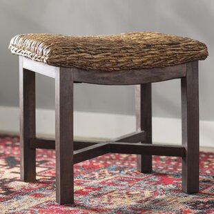 Fifine Abaca Rectangular Accent Stool by World Menagerie