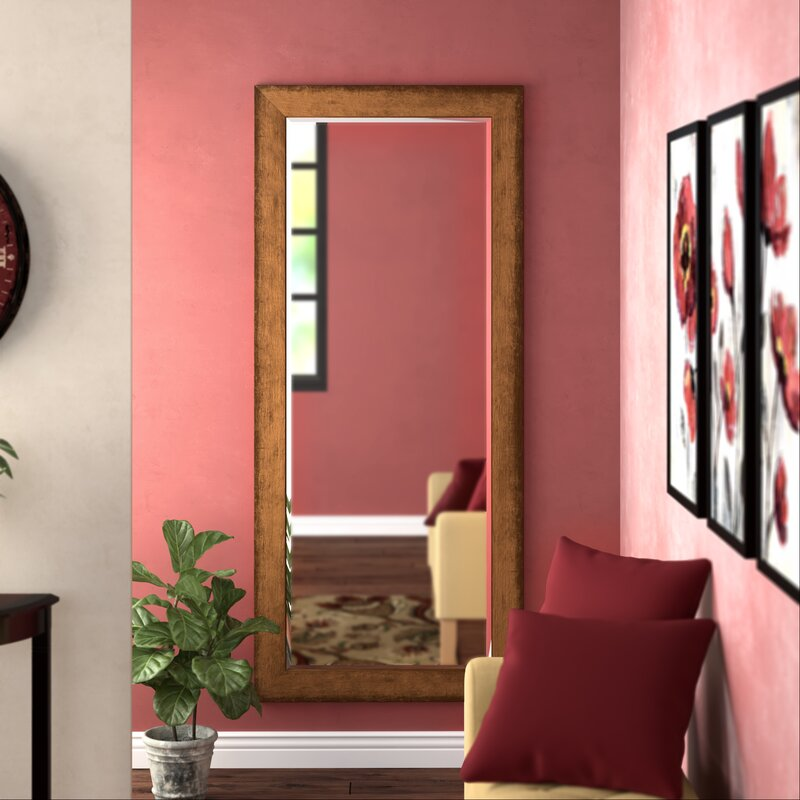 Darby Home Co Beveled Brown Wall Mirror Reviews Wayfair