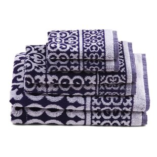 Delay 6 Piece 100% Cotton Bath Towel Set