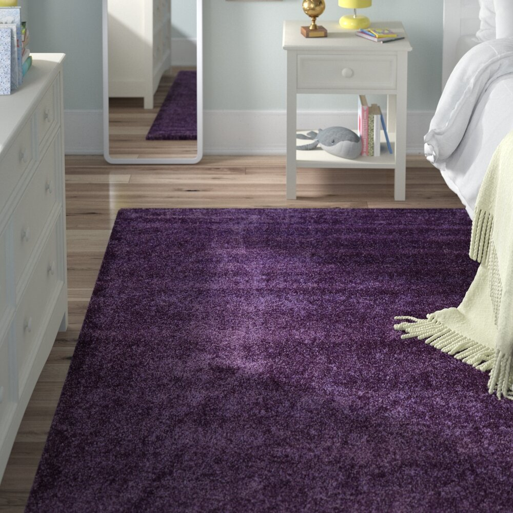 Viv Rae Evelyn Fig Purple Area Rug