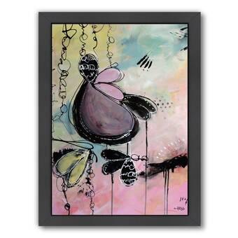 Artwall Bluebird Of Happiness By Marina Petro 4 Piece Framed Painting Print On Canvas Set Wayfair