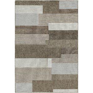 Saldana Brown/Ivory Indoor/Outdoor Area Rug