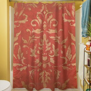 Golden Baroque Single Shower Curtain