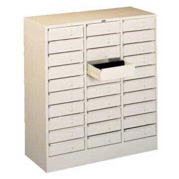 30 Drawer Organizer Filing Cabinet Tennsco Corp Color Medium Grey