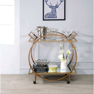 Delbert Metal Bar Cart by Everly Quinn