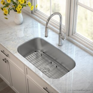 Outlast MicroShield™ Stainless Steel Real 16 Gauge 31.5 x 18.38 Undermount Kitchen Sink with Faucet