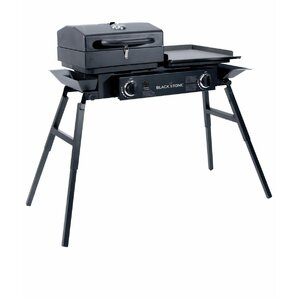 Tailgater 2 Burner Propane Gas Griddle Grill With Stove