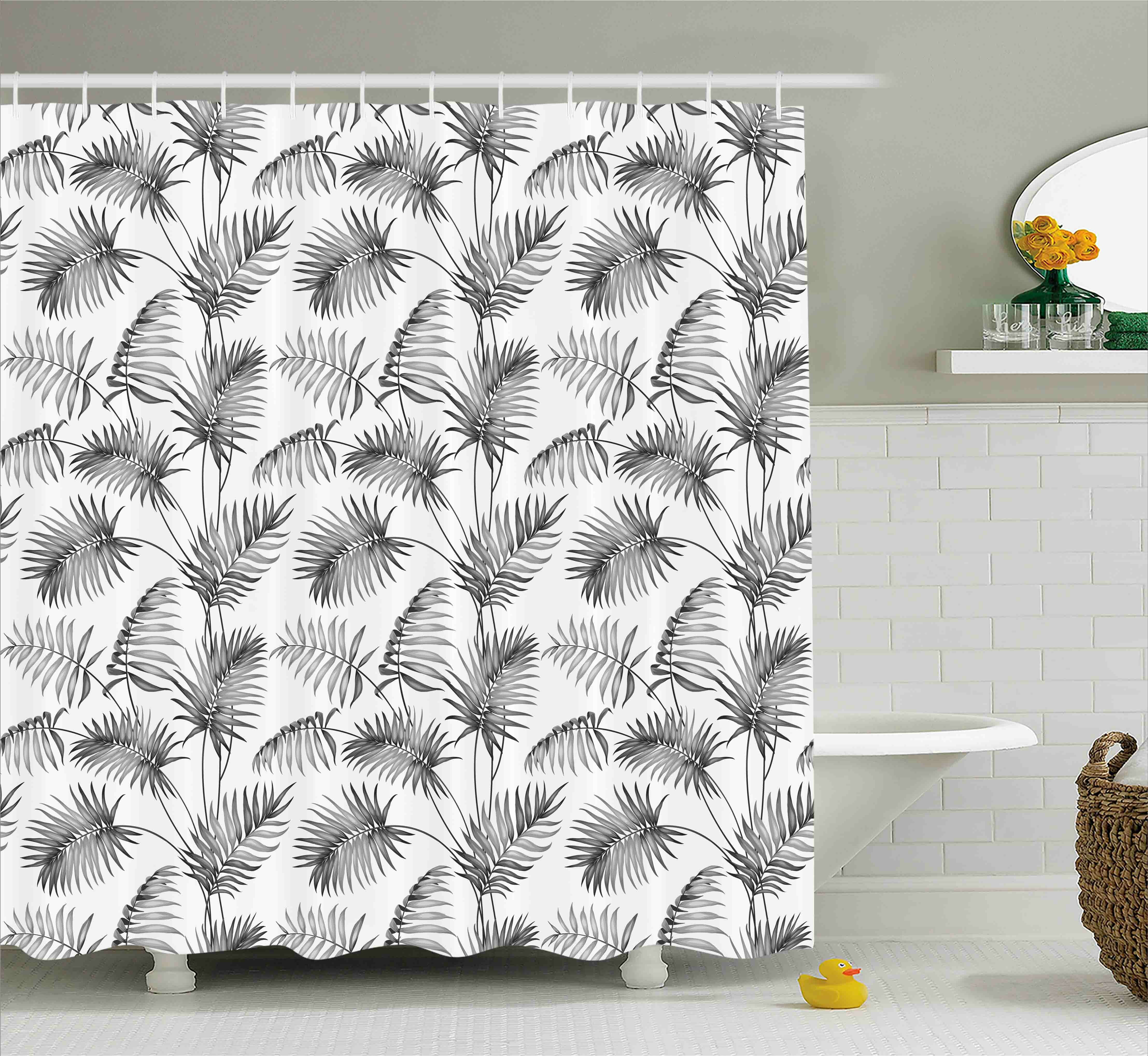 Bayou Breeze Applecroft Palm Leaf Botanic Island Shower Curtain