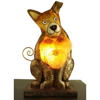 Bloomsbury Market 2 Piece Arzelia Resin Temple Dogs Figurine Set Wayfair
