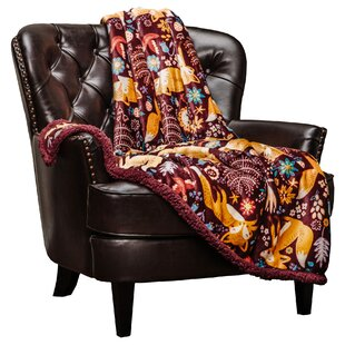 Delvecchio Gold Fox Print Soft Plush Throw Blanket