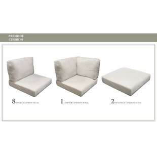 Coast 21 Piece Outdoor Lounge Chair Cushion Set By TK Classics