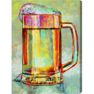 Hatcher and Ethan Beer Mug Graphic Art on Canvas by Oliver Gal