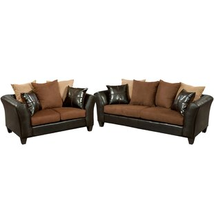 Dilorenzo 2 Piece Wood Frame Living Room Set by Latitude Run