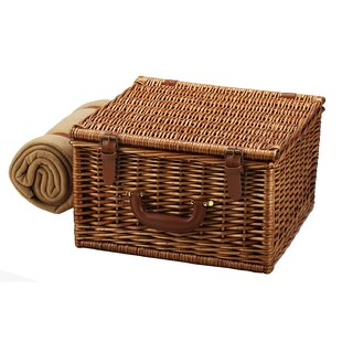 Cheshire Basket for Two with Coffee Set and Blanket in London