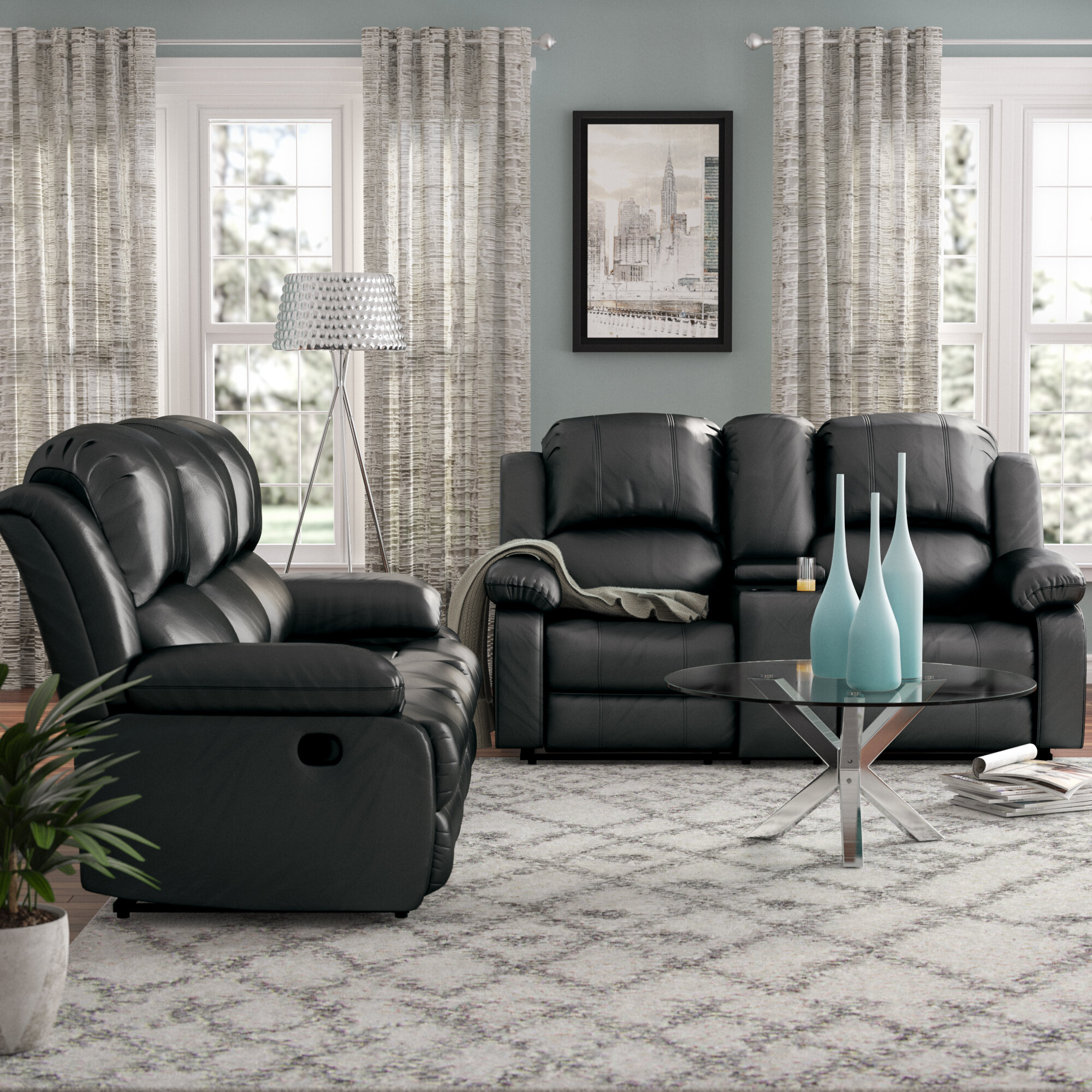 Red barrel studio mayday reclining 2 piece faux leather living room set reviews wayfair
