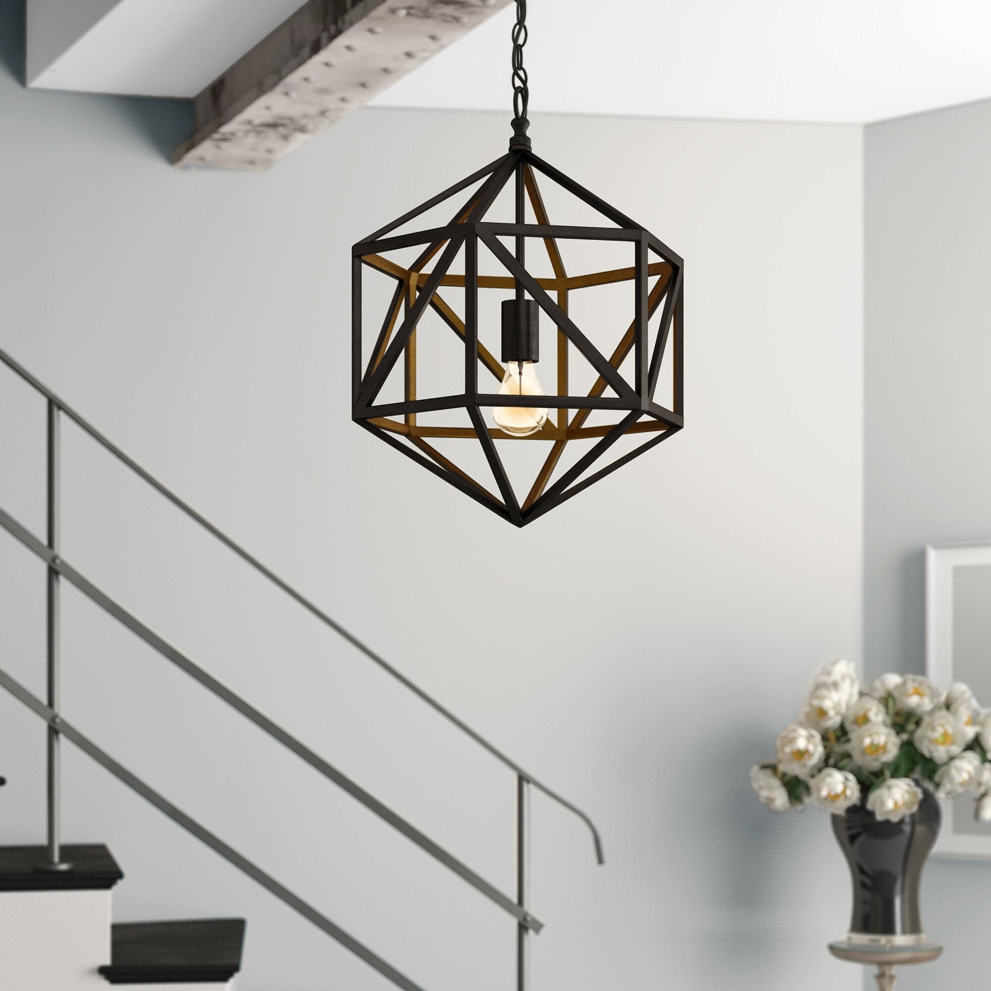 Noir Diamond 1 Light Single Geometric Pendant Reviews Perigold