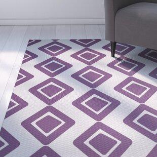 Best Reviews Abbie Purple Indoor/Outdoor Area Rug By Ebern Designs