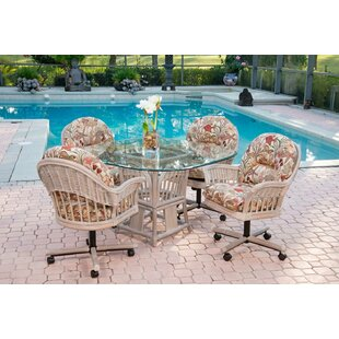 Moonsu 5 Piece Dining Set Bayou Breeze